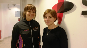 Sofia Swartz (Karlskrona Stadslopp) med Ann-Sofie Axelsson (Sigma)