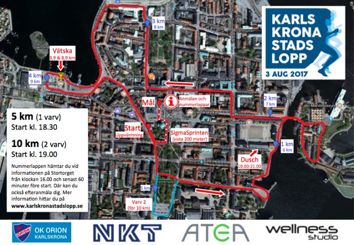 Karlskrona Stadslopp Karta